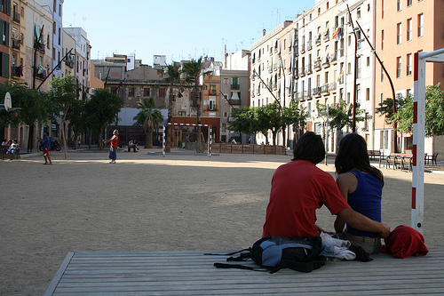 El Forat de la Vergonya a Barcellona, foto di Tekenen tratta da Flickr.com