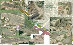 Parcheggi nella zona di via Roma (slide preparata da CagliariPedonale.it), in media il 20% di quelli attualmente realizzato è vuoto