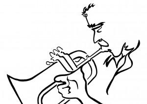 Paolo Fresu - disegno di Francesco Cocco