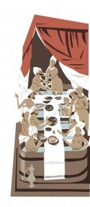 Bagno Medievale - Illustrazione di Riki Blanco