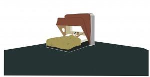 Camera da letto - Illustrazione di Riki Blanco