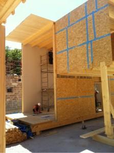 Telaio in legno, struttura della casa panoramica