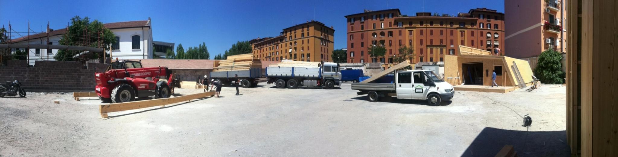 Costruzione della Casa Panoramica a Roma