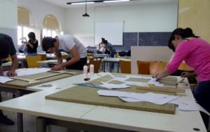 Lavoro durante un blocco di progettazione all'Asilo Sella