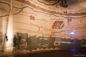 Corderie dell'Arsenale, Tabula Peutingeriana (mappa del V secolo, in cui L'Italia era il fulcro dell'impero Romano)