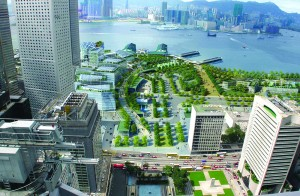 Source/ Fonte: Urban Design Study for the New Central Harbourfront, Planning Department, HKSAR