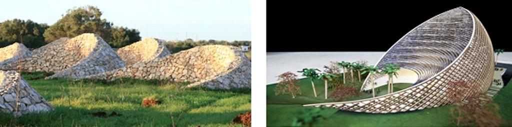 Sistema di raccolte delle acque in Algeria - Nuova sede dell'Arpt algerina, progetto di Mario Cucinella