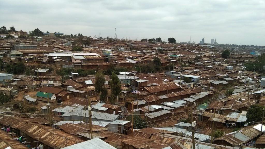 Kibera, nello sfondo il CBD