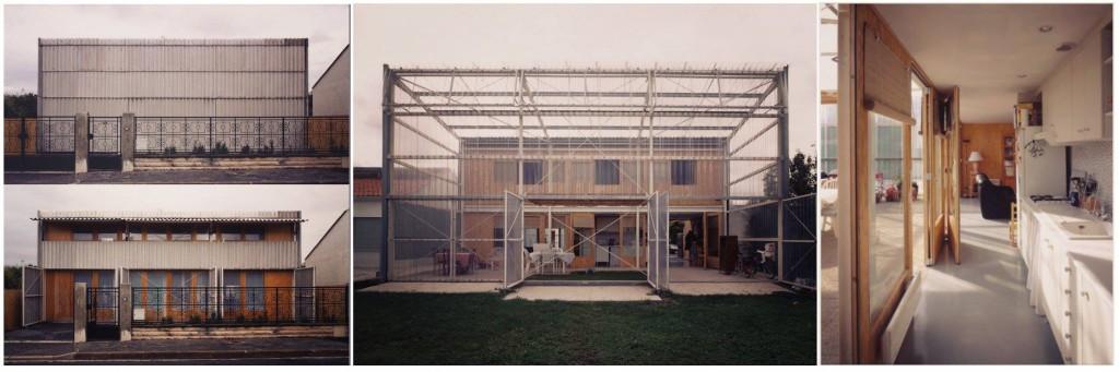 CASA LATAPIE Floirac, Francia, 1993 Riuso e implemento spazi abitativi con tecniche costruttive agrestri http://filt3rs.net/case/fibre-cement-shutters-west-facade-maison-latapie-303 http://www.lacatonvassal.com/?idp=25