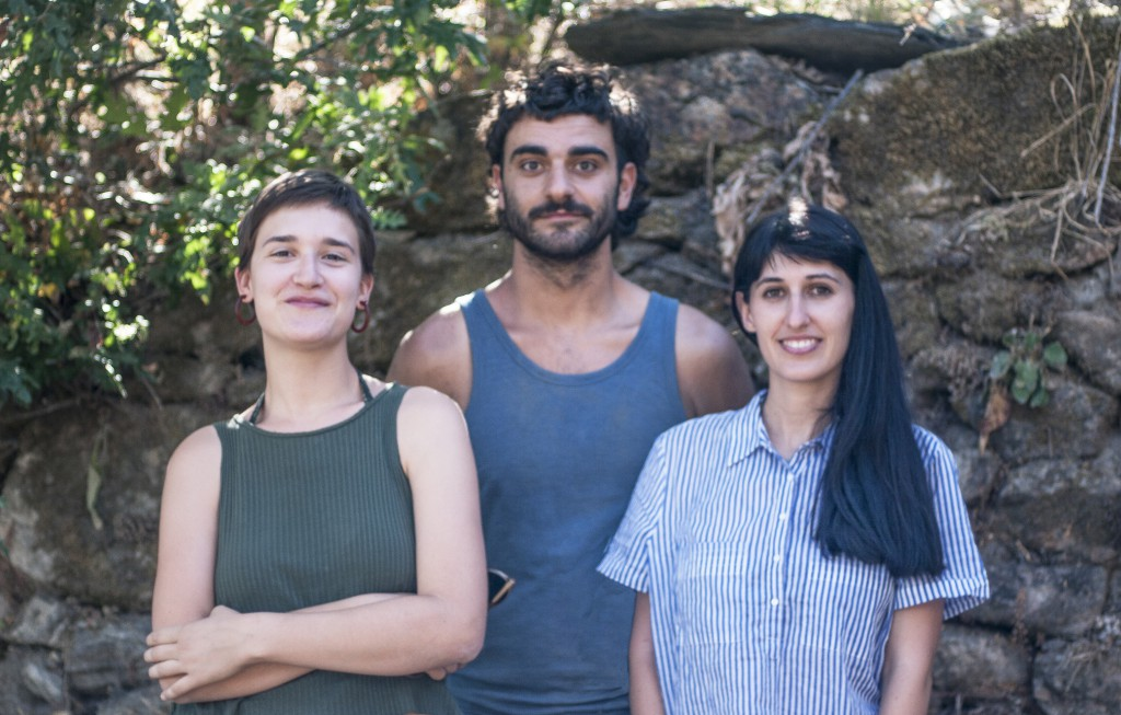 Il gruppo di Habita: Adriana, Ana e Antonio Foto di Ana Asensio